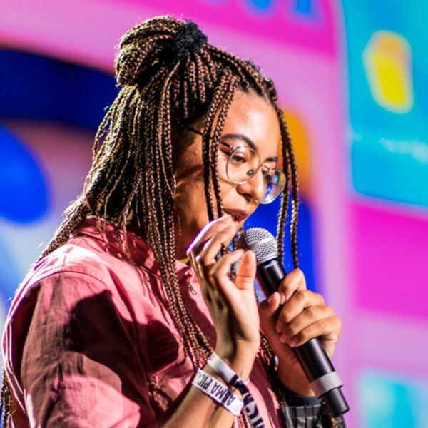 Loulou João is an Afro-Belgian 3D illustrator and animator whose mixed roots inform her investigations into how white supremacy is upheld and how it affects her identity. She uses 3D software (Blender) to visualize a digital world that consists of candy-coated squishy plastic objects. Here she can focus on the expression of her true self beyond society's constructs; a safe space that allows her to reflect on the struggles she faces in the physical world. Viewing Blackness as a technology that is constantly evolving to survive objectification and oppression, Loulou shines a unique light on the representation of Black women; an approach that has attracted clients such as Adult Swim, Spotify, Adobe, The New Yorker, The New York Times, Burning Man and MTV.louloujoao.com